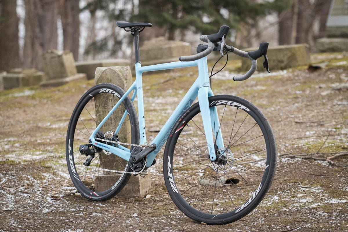 Donnelly CC Gravel Bike set up for our SRAM Force eTap AXS review