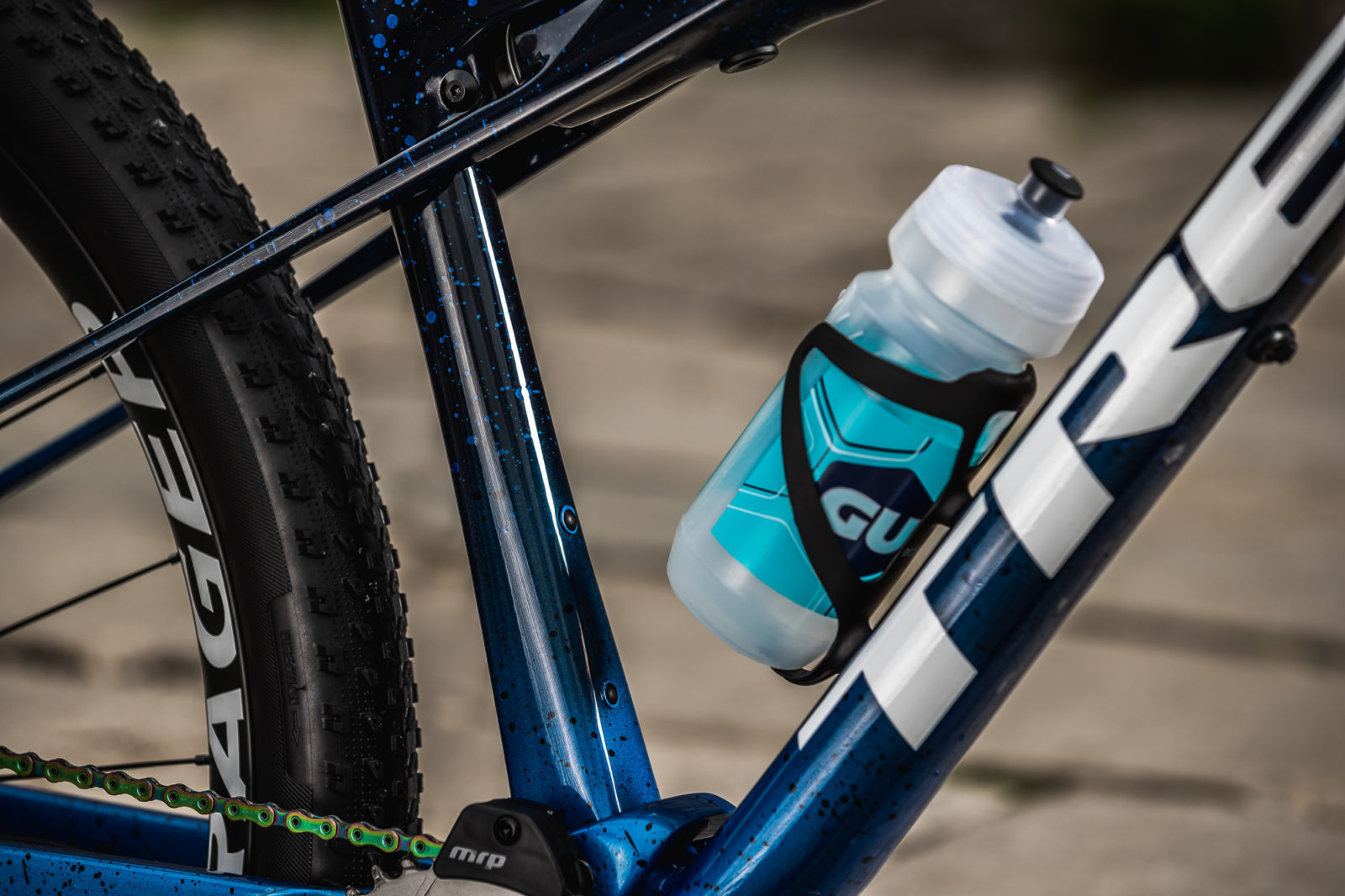 The Trek Supercaliber offers room for two water bottles.