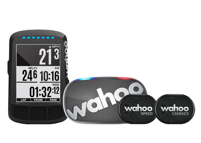 Wahoo TICKR and TICKR X heart rate monitors paired with cycling computer