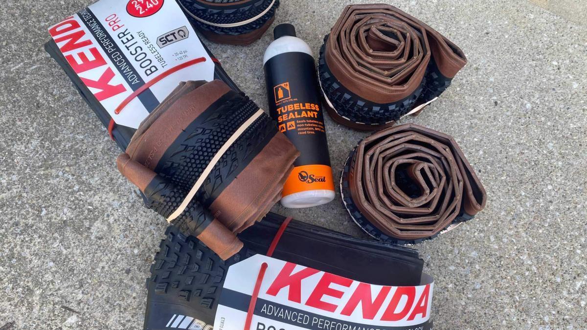 Kenda Gravel Tires with Orange Seal